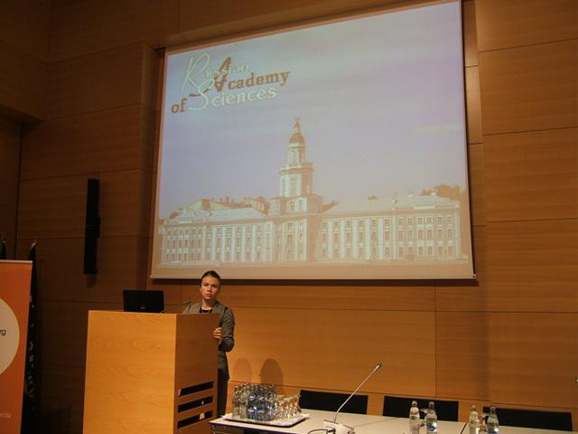 Вера Мысина, международная выставка-семинар Российские технологии в Люксембурге